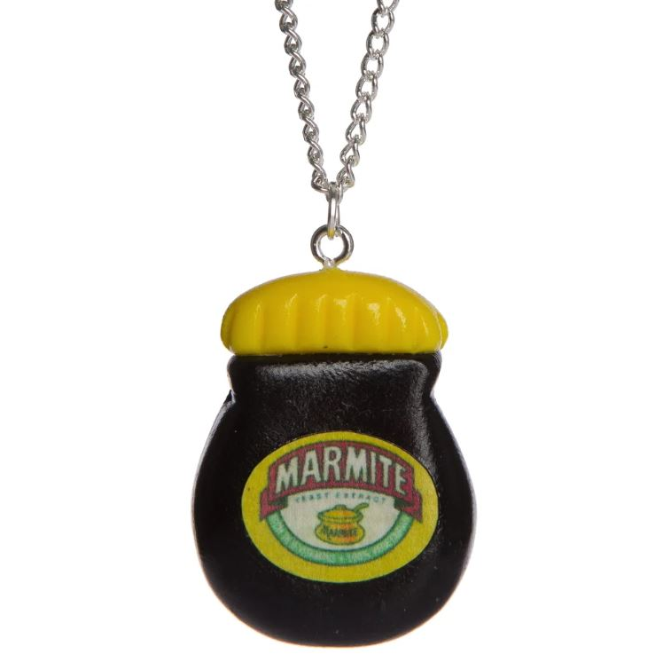 Marmite Necklace or Keyring - Jelly Button Jewellery