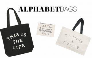 Alphabet Bags Womens Accessories Banner